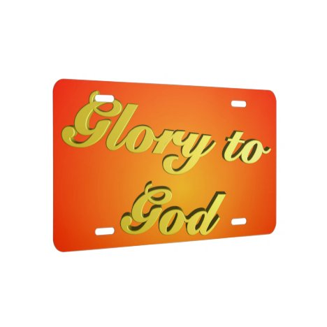 Glory to God (script) License Plate