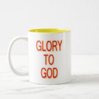 Glory to God Two-Tone Coffee Mug