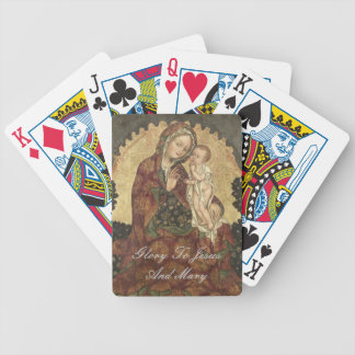 GLORY TO JESUS AND MARY BICYCLE PLAYING CARDS