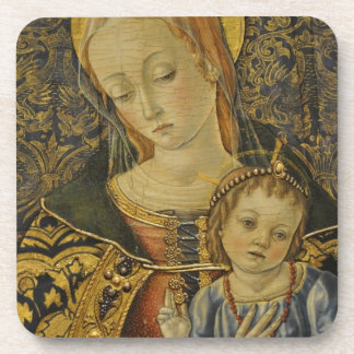 GLORY TO JESUS AND MARY BEVERAGE COASTER