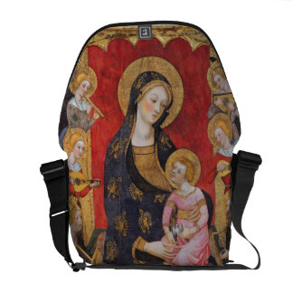 GLORY TO JESUS AND MARY COURIER BAG