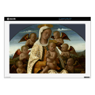 GLORY TO JESUS AND MARY LAPTOP SKIN