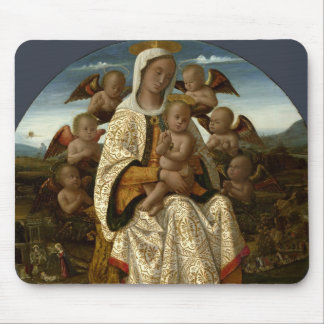 GLORY TO JESUS AND MARY MOUSE PADS