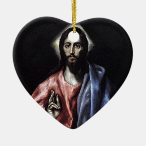 GLORY TO JESUS CHRIST CERAMIC ORNAMENT