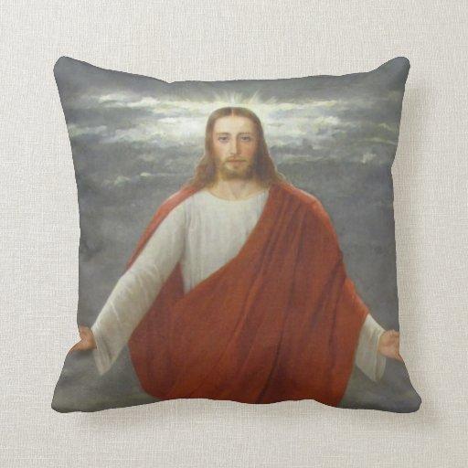 GLORY TO JESUS THROW PILLOW