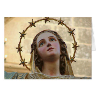 Glory To Mary Greeting Cards
