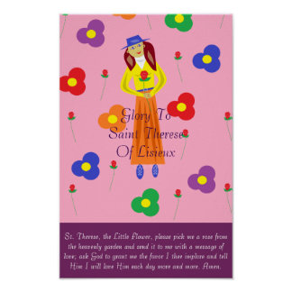Glory To Saint Therese Of Lisieux Poster