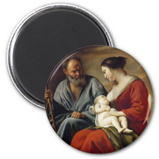 GLORY TO THE HOLY FAMILY 2 INCH ROUND MAGNET