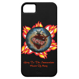 Glory To The Immaculate Heart Of Mary iPhone SE/5/5s Case