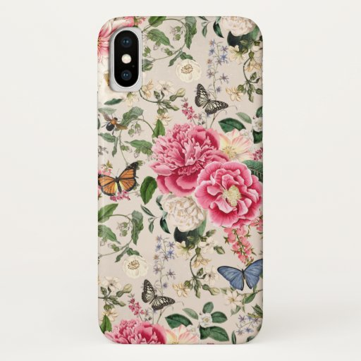 Gloryful Garden Quaint Floral Print iPhone case
