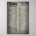 Glosario del Beatnik (poster)