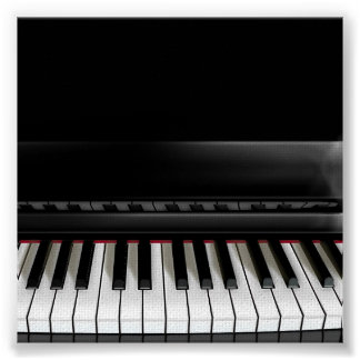 Gloss canvas piano print