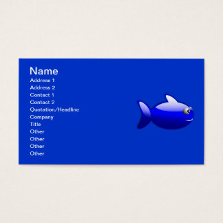 Gloss_Fish_1_Vector_Clipart three-dimensional Business Card