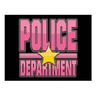 Gloss Pink Police Department Postcard
