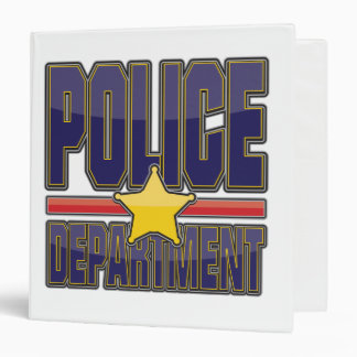 Gloss Police Department 3 Ring Binder