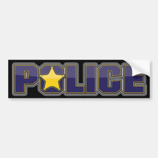 Gloss Police Department Blue with Star Car Bumper Sticker