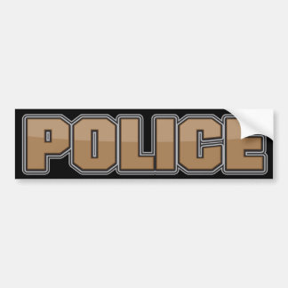 Gloss Police Department Brown 2 Bumper Sticker