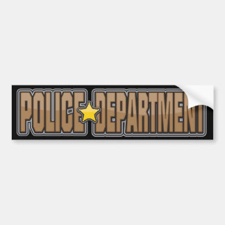 Gloss Police Department Brown Bumper Sticker