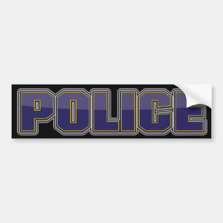 Gloss Police Department Dark Blue Car Bumper Sticker