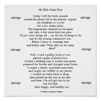 Gloss print photos of your children with poem