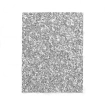 Gloss Sparkling Silver Gray Glitter Pattern Fleece Blanket