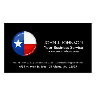 Glossing Round Texas Flag Double-Sided Standard Business Cards (Pack Of 100)