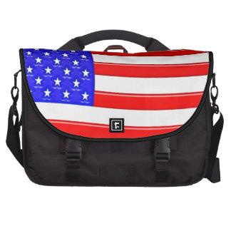 Glossy American Flag Laptop Bag