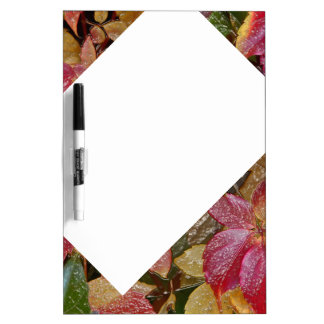 Glossy autumn leaves, Wax-Look 001.1 Dry Erase Board