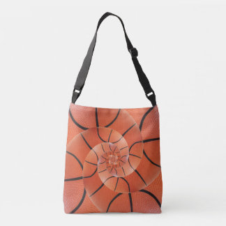 Glossy Basketball Spiral Droste Cross Body Tote