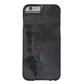 Glossy Black Alligator Print Barely There iPhone 6 Case
