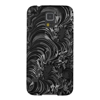Glossy Black Fractal Abstract Case For Galaxy S5