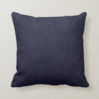 Glossy Blue Leather - Close up Texture Throw Pillow