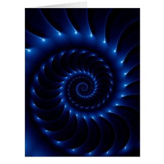 Glossy Blue Spiral Fractal Big Greeting Card