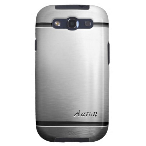 Glossy Brushed Metal Stainless Steel Look Samsung Galaxy SIII Cases