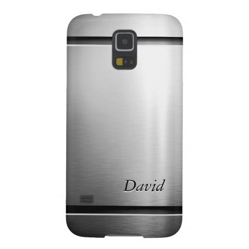 Glossy Brushed Metal Stainless Steel Look Galaxy S5 Cases