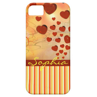 Glossy Candy Red Orange Heart Tree Flourish Yellow iPhone 5 Cases
