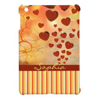 Glossy Candy Red Orange Heart Tree Flourish Yellow iPad Mini Case