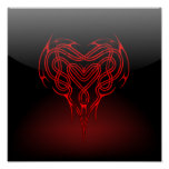 Glossy Celtic Heart Poster