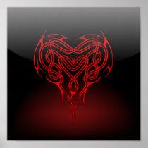 Glossy Celtic Heart