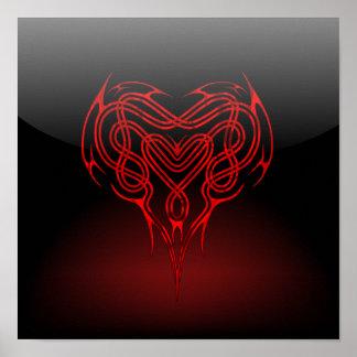Glossy Celtic Heart Poster