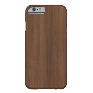 Glossy Chocholate Wood Grain Barely There iPhone 6 Case