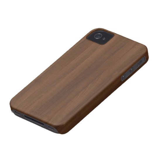 Glossy Chocholate Wood Grain iPhone 4 Cover