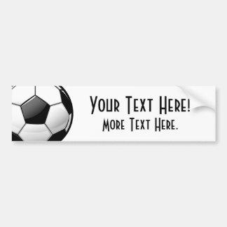 Glossy Classic Soccer Ball Car Bumper Sticker
