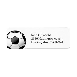 Glossy Classic Soccer Ball Label