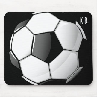 Glossy Classic Soccer Ball Mouse Pad