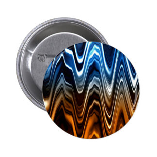 Glossy Color Waves Pinback Button