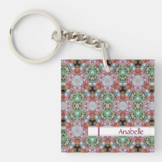 Glossy Colored Patterned Key Chain