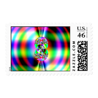 Glossy fractal postage stamps