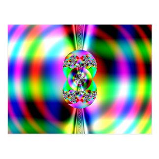 Glossy fractal postcard