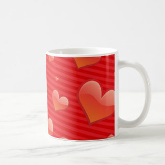 Glossy Glass Heart Coffee Cup